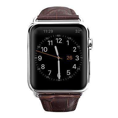 Horlogeband voor Apple Watch Series 3 / 2 / 1 Apple Butterfly Buckle Echt leer Polsband