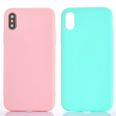 Kılıf Na Apple iPhone X iPhone 8 iPhone 6 iPhone 7 Plus iPhone 7 Other Czarne etui Solid Color Miękkie TPU na iPhone X iPhone 8 Plus