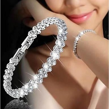 Femme Zircon Chaîne de tennis Chaînes & Bracelets - Délicat, Coréen, Mode Bracelet Argent Pour Cadeau Rendez-vous