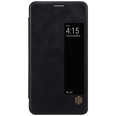 voordelige Huawei Mate hoesjes / covers-hoesje Voor Huawei Mate 10 / Mate 10 pro / Huawei Kaarthouder / met venster / Flip Volledig hoesje Effen Hard PU-nahka