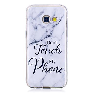 voordelige Galaxy A-serie hoesjes / covers-hoesje Voor Samsung Galaxy A3 (2017) / A5 (2017) IMD / Patroon Achterkant Woord / tekst / Marmer Zacht TPU