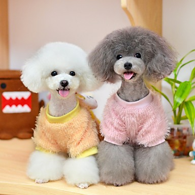 Dog Sweatshirt Dog Clothes Casual/Daily Cartoon Yellow Pink Costume For Pets