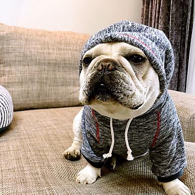 강아지 후드 강아지 의류 브리티쉬 커피 블루 면 코스츔 애완 동물 남성용 여성용 캐쥬얼/데일리