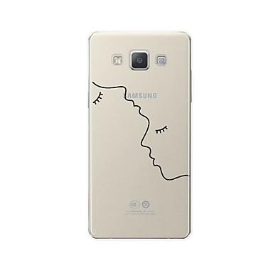 voordelige Galaxy A-serie hoesjes / covers-hoesje Voor Samsung Galaxy A3 (2017) / A5 (2017) / A7 (2017) Patroon Achterkant Lijnen / golven / Hart / Sexy dame Zacht TPU