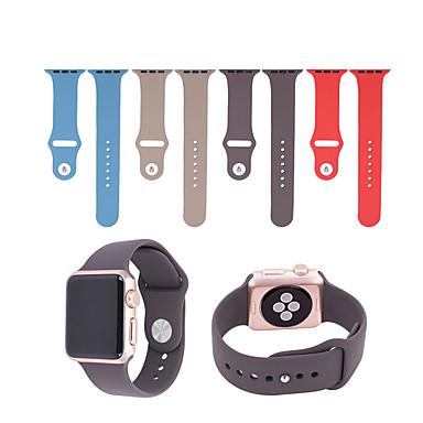 Urrem for Apple Watch Series 4/3/2/1 Apple Moderne spænde Silikone Håndledsrem