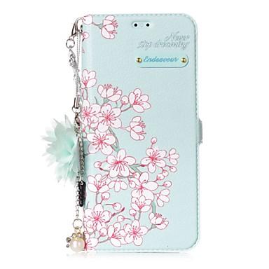 Недорогие Чехлы и кейсы для Galaxy S6 Edge-Кейс для Назначение SSamsung Galaxy Бумажник для карт / со стендом / Флип Цветы Твердый