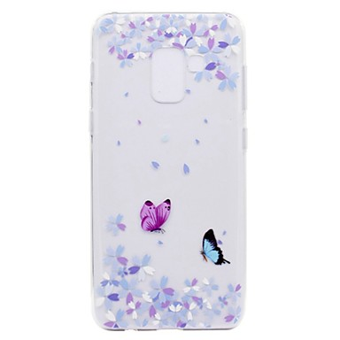 voordelige Galaxy A-serie hoesjes / covers-hoesje Voor Samsung Galaxy A3 (2017) / A5 (2017) / A7 (2017) Transparant / Patroon Achterkant Vlinder Zacht TPU