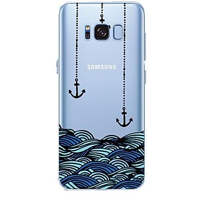 Недорогие Чехлы и кейсы для Galaxy S6 Edge-Кейс для Назначение SSamsung Galaxy С узором анкер Мягкий