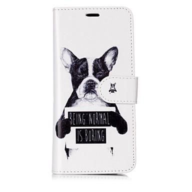 voordelige Galaxy S-serie hoesjes / covers-hoesje Voor Samsung Galaxy S8 Plus / S8 / S7 edge Portemonnee / Kaarthouder / Flip Volledig hoesje Hond / Woord / tekst Hard PU-nahka
