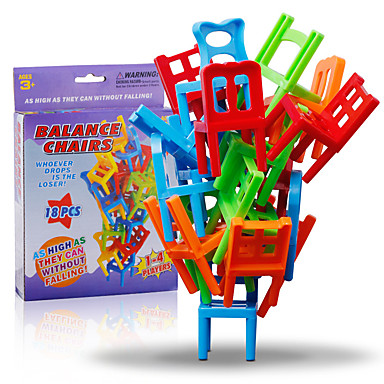 Building Blocks Stacking Game Chair Balance Classic Classic Girls' Boys'