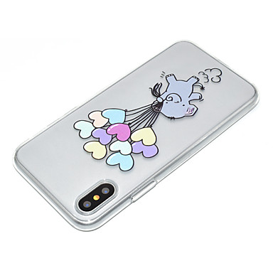 Transparente Apple disegno Palloncini X retro 8 Morbido iPhone Per Per iPhone iPhone 06479677 X Fantasia per Plus 8 TPU iPhone Elefante Custodia 85w7YFqn