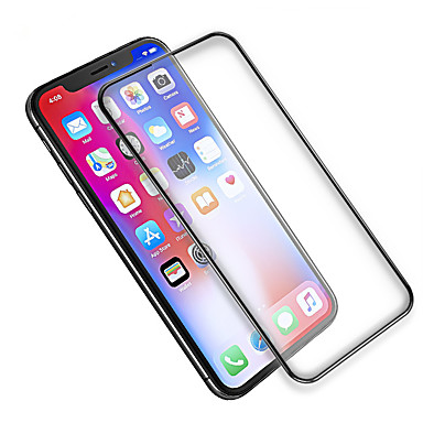 voordelige iPhone X screenprotectors-AppleScreen ProtectoriPhone X High-Definition (HD) Volledige behuizing screenprotector 1 stuks Gehard Glas