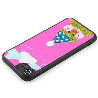 7 7 Cartoni Per Glitterato Fai Per disegno iPhone Resistente Animali te iPhone per 06479698 Fantasia Custodia 6 retro animati PC Apple da iPhone 6XOPPw1