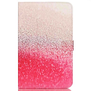 Кейс для Назначение Samsung Tab E 9.6 Бумажник для карт Кошелек со стендом С узором Авто Режим сна / Пробуждение Чехол Пейзаж Твердый