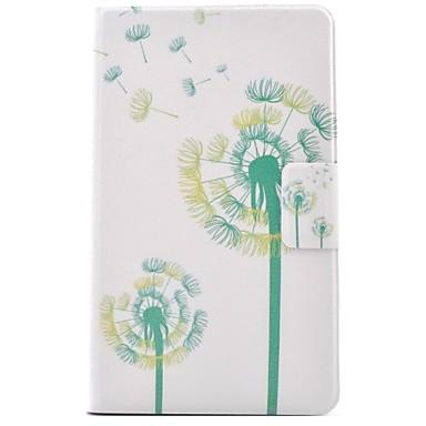 voordelige Samsung Tab-serie hoesjes / covers-hoesje Voor Samsung Galaxy Tab E 9.6 Kaarthouder / met standaard / Flip Volledig hoesje Paardebloem Hard PU-nahka