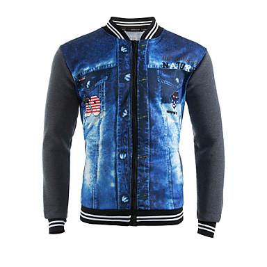 economico Abbigliamento uomo-Per uomo Moda città Pantaloni - Monocolore / 3D Print Collage Grigio scuro / Sport / Manica lunga / Primavera / Autunno / Inverno