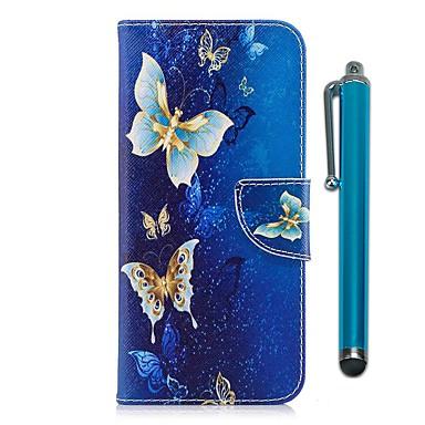 غطاء من أجل Samsung S9 Plus / S9 محفظة / حامل البطاقات / مع حامل غطاء كامل للجسم فراشة قاسي جلد PU / TPU إلى S9 / S9 Plus / S8 Plus