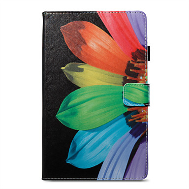 cheap Kindle Cases/Covers-Case For Amazon Kindle Fire hd 8(7th Generation, 2017 Release) / Kindle Fire hd 8(6th Generation, 2016 Release) Wallet / Card Holder / with Stand Full Body Cases Flower Hard PU Leather