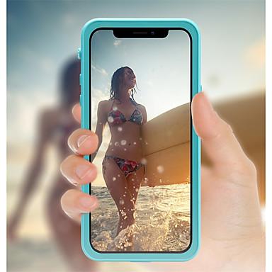 Недорогие Кейсы для iPhone-Кейс для Назначение Apple iPhone X / iPhone 8 Pluss / iPhone 8 Водонепроницаемый / Защита от удара / Полупрозрачный Чехол Однотонный Твердый пластик