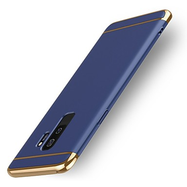Недорогие Чехлы и кейсы для Galaxy S6-Кейс для Назначение SSamsung Galaxy S9 / S9 Plus / S8 Plus Защита от удара Кейс на заднюю панель Однотонный Твердый пластик