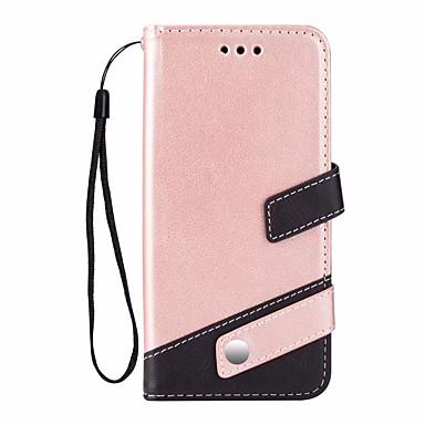 voordelige Galaxy S-serie hoesjes / covers-hoesje Voor Samsung Galaxy S9 Plus Kaarthouder / met standaard Volledig hoesje Effen Kleur Hard PU-nahka