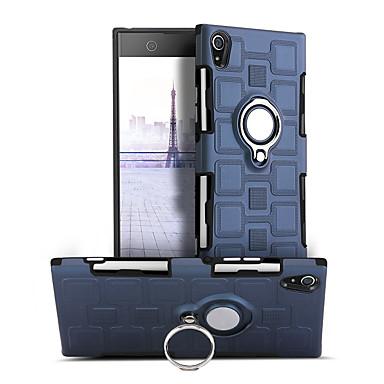 voordelige Hoesjes / covers voor Sony-hoesje Voor Sony Sony Xperia XA1 360° rotatie / Schokbestendig / Ringhouder Achterkant Effen Hard PC