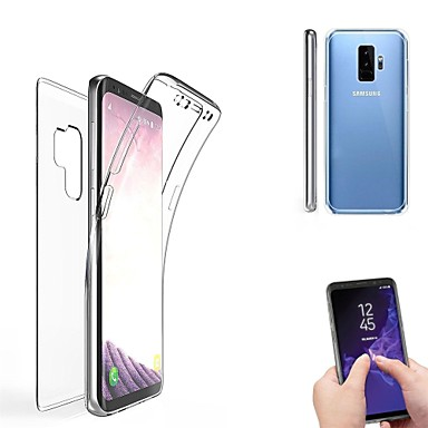 Недорогие Чехлы и кейсы для Galaxy S6 Edge-Кейс для Назначение SSamsung Galaxy S9 / S9 Plus / S8 Plus Полупрозрачный Чехол Однотонный Мягкий Силикон