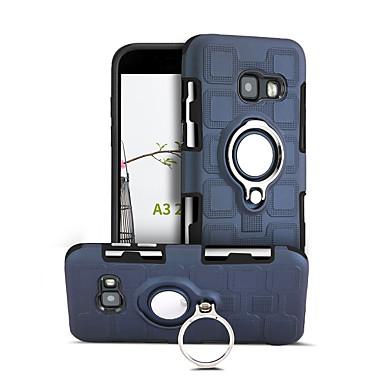 voordelige Galaxy A-serie hoesjes / covers-hoesje Voor Samsung Galaxy A3 (2017) 360° rotatie / Schokbestendig / Ringhouder Achterkant Effen Hard PC