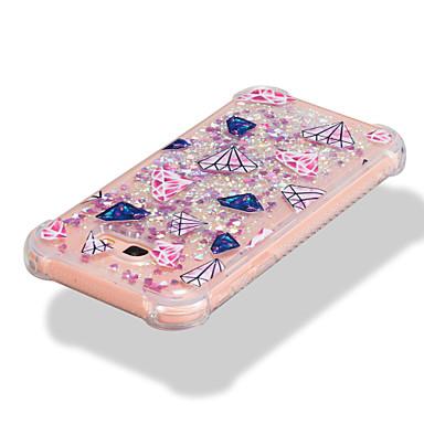 voordelige Galaxy A-serie hoesjes / covers-hoesje Voor Samsung Galaxy A3 (2017) / A5 (2017) / A7 (2017) Schokbestendig / Stromende vloeistof / Patroon Achterkant Geometrisch patroon / Glitterglans Zacht TPU