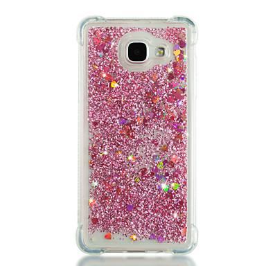 voordelige Galaxy A-serie hoesjes / covers-hoesje Voor Samsung Galaxy A3 (2017) / A5 (2017) / A7 (2017) Schokbestendig / Stromende vloeistof / Glitterglans Achterkant Hart / Glitterglans Zacht TPU