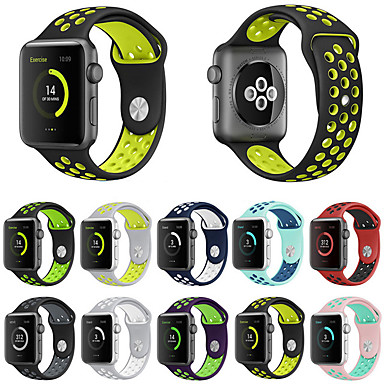 Pogledajte Band za Apple Watch Series 4/3/2/1 Apple Sportski remen Silikon Traka za ruku