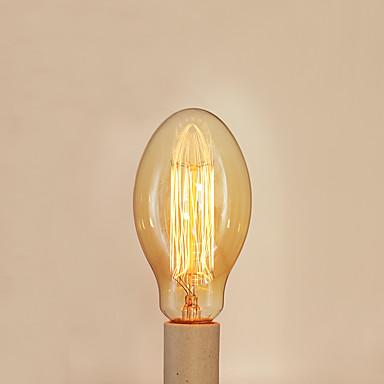 1pc 40 W E26 / E27 / E27 C75 Θερμό Λευκό 2300 k Λαμπτήρας πυρακτώσεως Vintage Edison 220-240 V