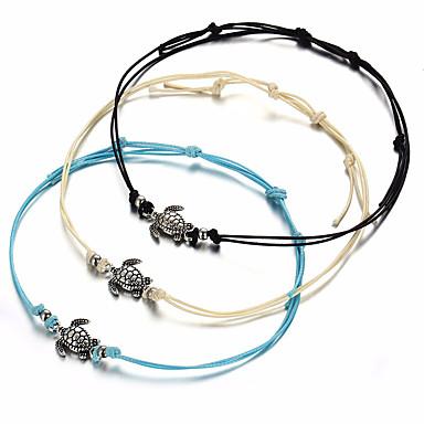 Tornezeleira - Tartaruga, Animal Simples, Vintage Branco / Preto / Azul Para Presente Mulheres
