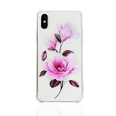 agli Per Fantasia Apple disegno Custodia Resistente X iPhone retro Morbido Per TPU Fiore 8 per urti 06644099 decorativo Transparente iPhone qwff0g