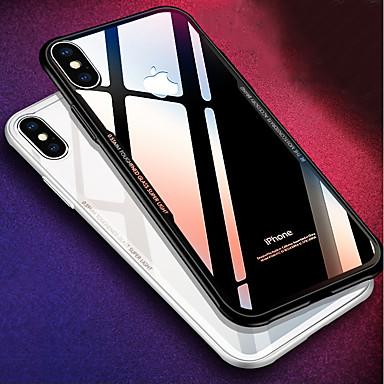 Coque Pour Apple iPhone X / iPhone 8 Antichoc / Miroir Coque Couleur Pleine Dur Silicone pour iPhone X / iPhone 8 Plus / iPhone 8