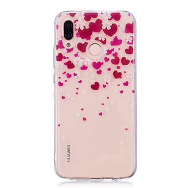 half off 9bca0 ea5c1 Case For Huawei Huawei P20 / Huawei P20 Pro / Huawei P20 lite IMD /  Transparent / Pattern Back Cover Heart Soft TPU / P10 Plus / P10 Lite / P10