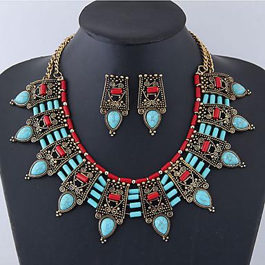 28862b4682b280 Damskie Biżuteria Ustaw - Żywica Kropla Duże, Vintage, Europejskie Zawierać  Kolczyki sztyfty Oświadczenie Naszyjniki
