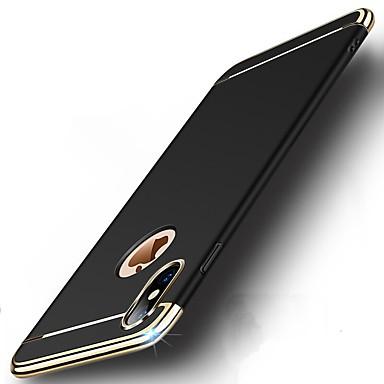 voordelige iPhone 5 hoesjes-hoesje Voor Apple iPhone X / iPhone 8 Plus / iPhone 8 Schokbestendig / Beplating / Ultradun Volledig hoesje Effen Hard PC