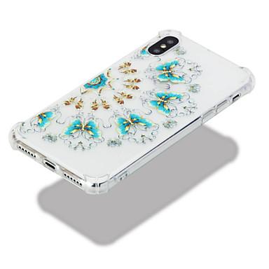 Morbido Fantasia retro Custodia TPU Transparente urti Plus per 06633676 agli disegno Per iPhone 8 Resistente X Per iPhone Farfalla Apple iPhone 6waqx6nAr