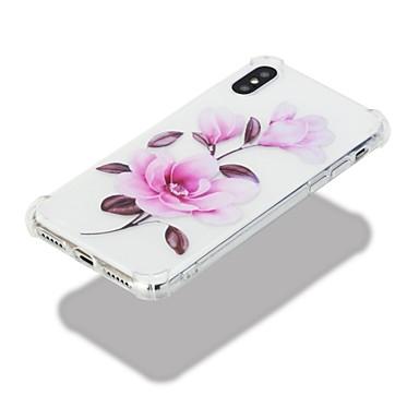 agli Per Fantasia Apple disegno Custodia Resistente X iPhone retro Morbido Per TPU Fiore 8 per urti 06644099 decorativo Transparente iPhone qwff0g