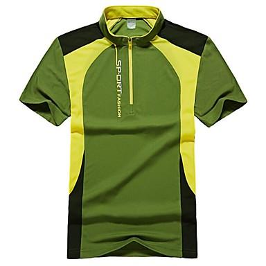 economico Abbigliamento uomo-T-shirt - Taglie forti Per uomo Sport Essenziale / Moda città Animali Colletto alla coreana Verde XXXL / Manica corta / Estate / Taglia piccola