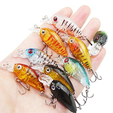 9 db Mamac za ribe Minnow Kemény csali Kemény műanyag Tengeri halászat Csalidobó Sodort Pergető horgászat Folyóvíz horgászat Más