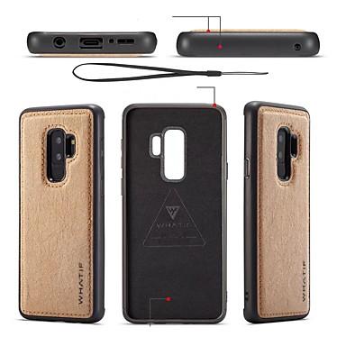 voordelige Galaxy S-serie hoesjes / covers-hoesje Voor Samsung Galaxy S9 / S9 Plus / S8 Plus DHZ Achterkant Effen Zacht PU-nahka