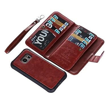 voordelige Galaxy S-serie hoesjes / covers-hoesje Voor Samsung Galaxy S9 / S9 Plus / S8 Plus Portemonnee / Kaarthouder / Flip Volledig hoesje Effen Hard aitoa nahkaa