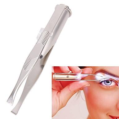 lumina din oțel inoxidabil pensetă portabil condus spranceană clip pince un epiler pensete instrument de îndepărtare a părului