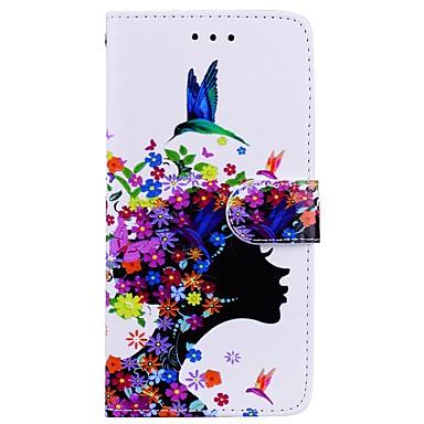 voordelige Galaxy Note-serie hoesjes / covers-hoesje Voor Samsung Galaxy Note 8 Portemonnee / Kaarthouder / met standaard Volledig hoesje Sexy dame Hard PU-nahka