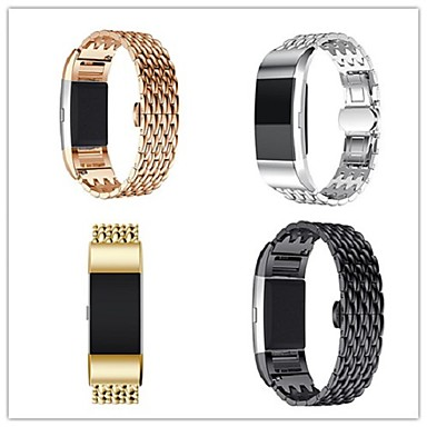 Watch Band varten Fitbit Charge 2 Fitbit Butterfly Buckle Metalli Ruostumaton teräs Rannehihna