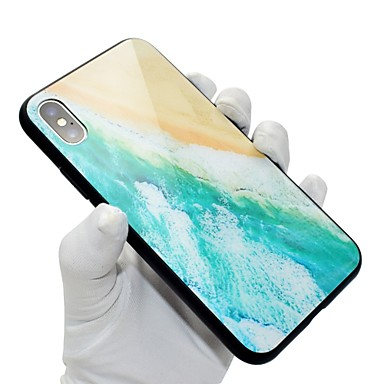 Vetro Apple temperato Fantasia iPhone disegno Per X iPhone 06711929 iPhone 8 X Plus Paesaggi retro Per per 8 Resistente iPhone Custodia Snw5xqBf75