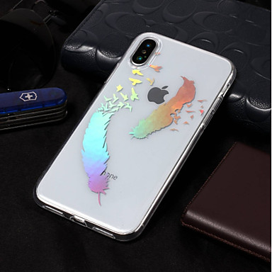 8 Morbido Plus X iPhone 06689687 8 Apple iPhone 8 X retro IMD Custodia Per TPU iPhone Piume per iPhone Per disegno Fantasia iPhone 7t1wxBHq