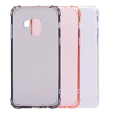 غطاء من أجل Samsung Galaxy A6 (2018) / A6+ (2018) / A8 2018 ضد الصدمات / شبه شفّاف غطاء خلفي لون سادة ناعم TPU